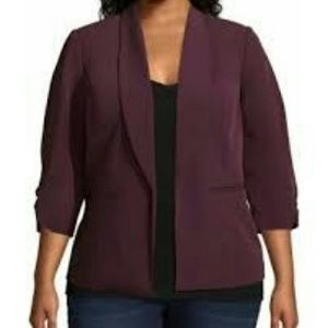 Worthington 3/4 cinch sleeve blazer 1X